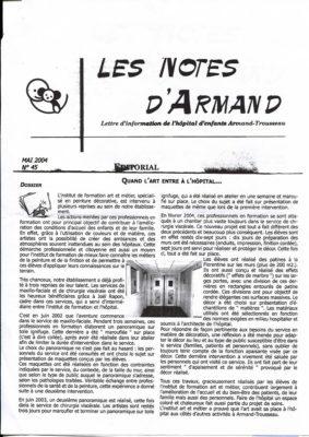 Trousseau Notes d'Armand