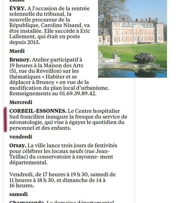 Article de presse du Parisien 91