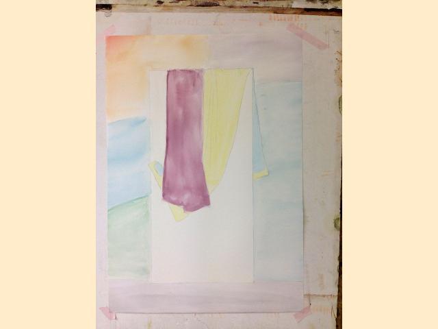 Etape 1 - Drapé peinture d'après réel