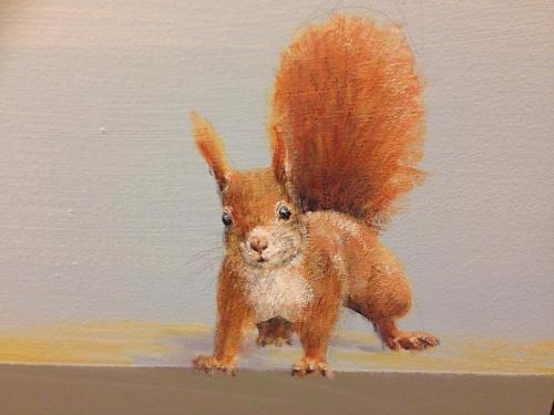 Écureuil peint sur mur - Necker - le voyage à travers les contes.