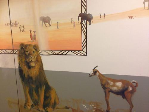 Animaux peints sur mur - Necker - le voyage à travers les contes.