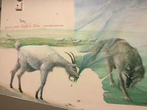 Animaux peints sur mur - Necker - le voyage à travers les contes - Affabulations.