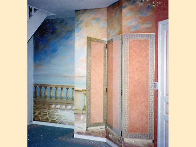 Panoramique - Trompe l'oeil - Hôtel particulier - Prestige.
