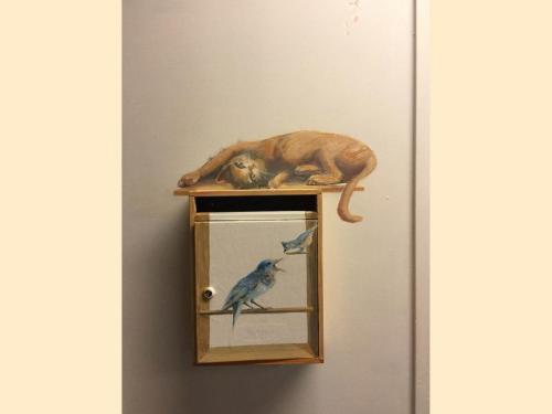 Animaux peints sur mur et boîte - Necker - Le voyage    à travers les contes - Affabulation.