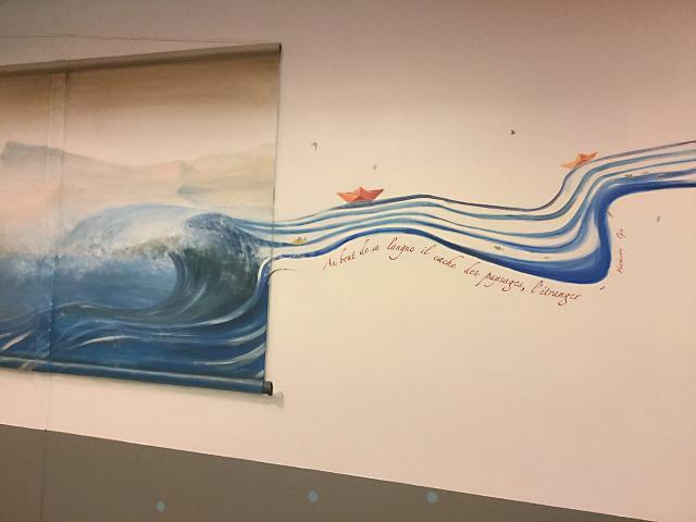 12-1-Necker-Centre Hospitalier Universitaire  Necker-Paris-P diatrie-D cor Mural- Le voyage   travers les contes  l Asie  1