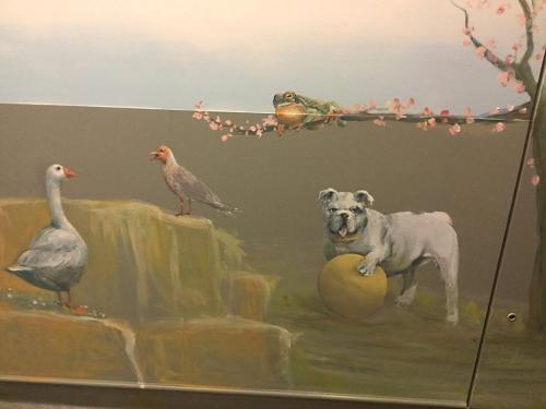 Animaux peints sur mur - Necker - Le voyage à travers les contes - Affabulation.