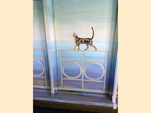 Chat peint sur mur - Sevran - CHU René Muret.