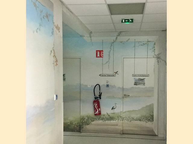 Neonat - Centre Hospitalier Sud Francilien - Corbeil - Pédiatrie - Balade au bord de l'eau - Décor Mural