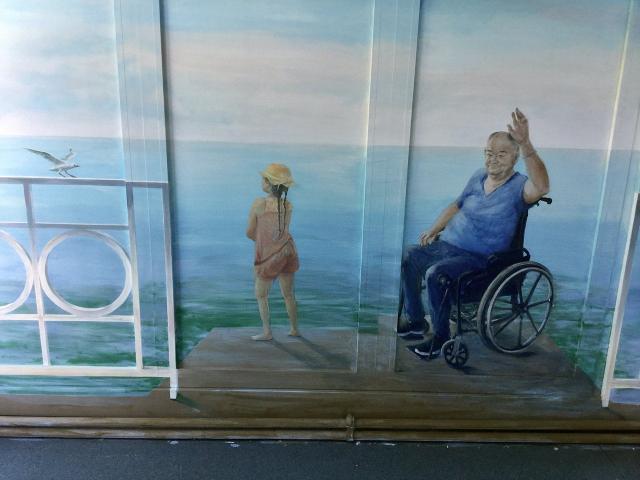 Sevran - Centre Hospitalier Universitaire  René Muret - Sevran - gériatrie - Décor Mural les 4 Saisons