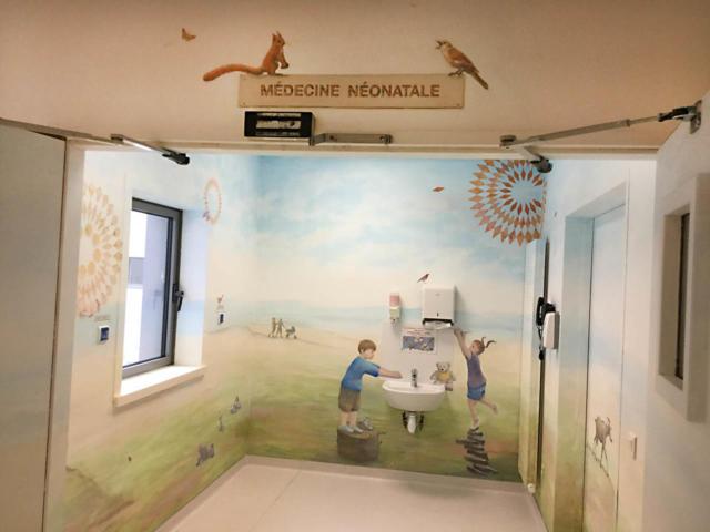 Fresque 1 - Accueil -  Hôpital