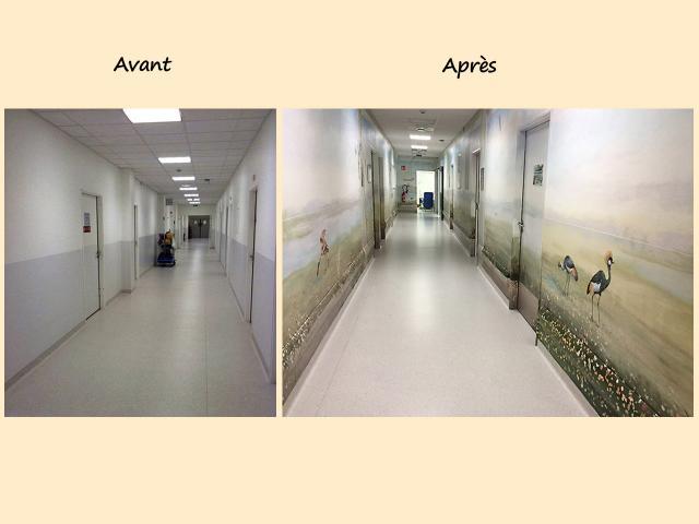 AV32-AP25 decor Centre Hospitalier Sud Francilien-Corbeil-P diatrie-Balade au bord de l eau-Decor Mural v2