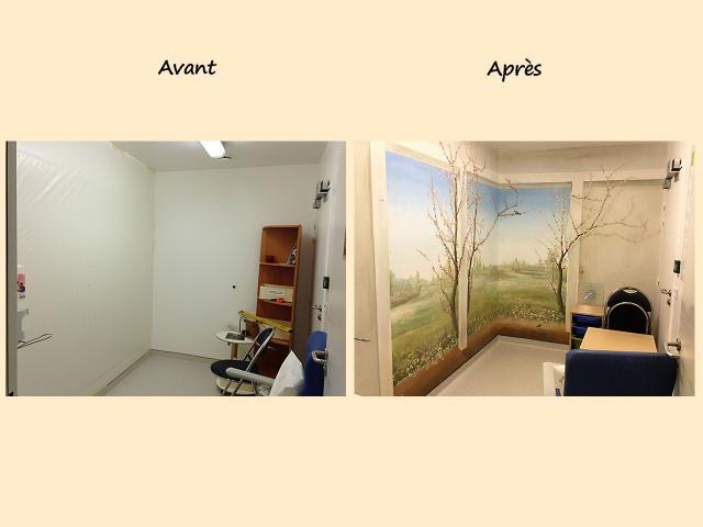 AV34-AP29 decor Centre Hospitalier Sud Francilien-Corbeil-P diatrie-Balade au bord de l eau-Decor Mural v2