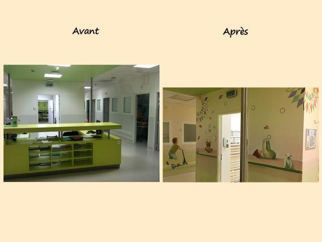 AV35-AP30 decor Centre Hospitalier Sud Francilien-Corbeil-P diatrie-Balade au bord de l eau-Decor Mural v2