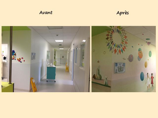 AV36-AP61 decor Centre Hospitalier Sud Francilien-Corbeil-P diatrie-Balade au bord de l eau-Decor Mural v2