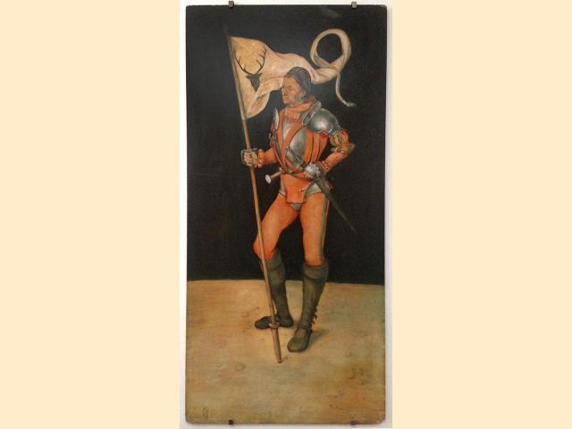 Copie de tableau d'après Dürer - Peinture huile sur bois