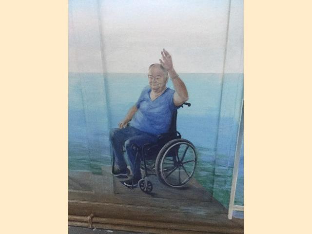 Portrait peint sur mur - Les 4 saisons - Sevran