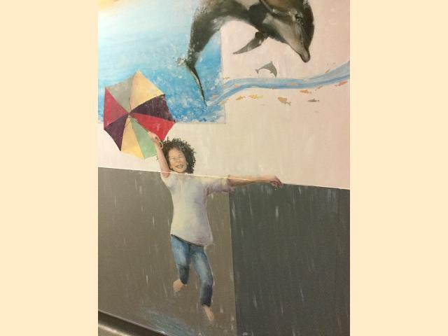 Portrait peint sur mur - Le voyage par les contes - Necker