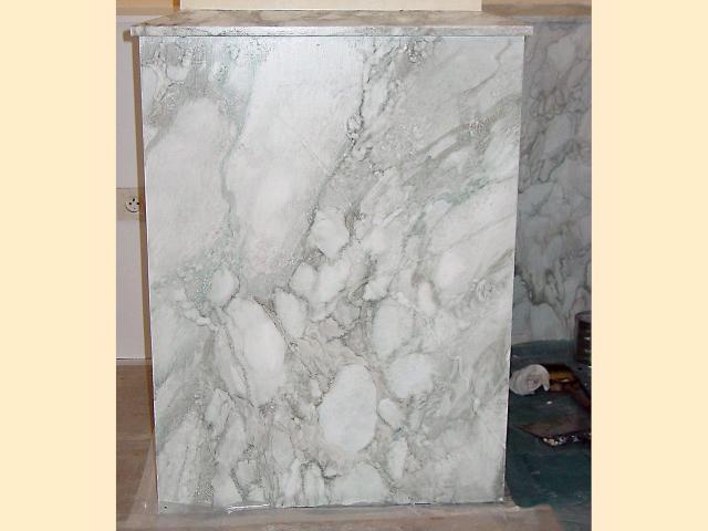 Faux marbre - brèche grise - Décor peint