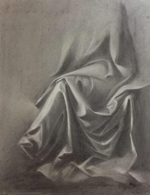drapé fusain