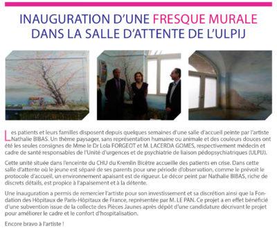 Inauguration d'une fresque murale ULPIJ