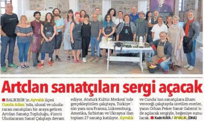 Workshop avec 26 artistes à Cunda en Turquie, Mai 2018.